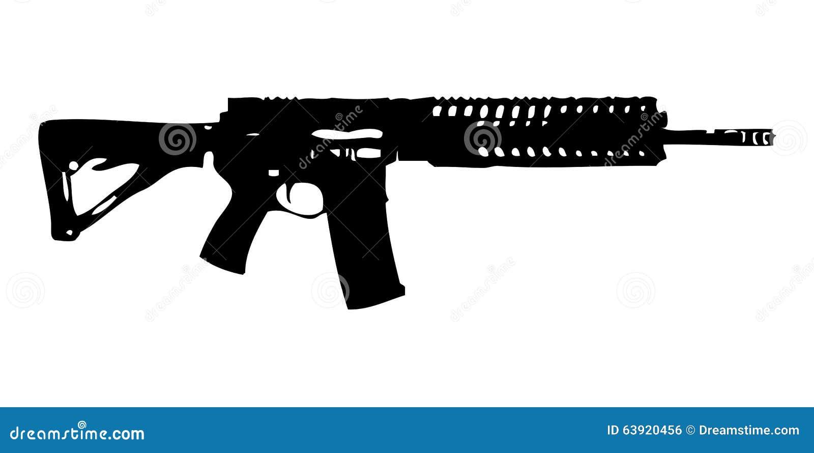 Line Art Gun : Fire gun stock illustration image