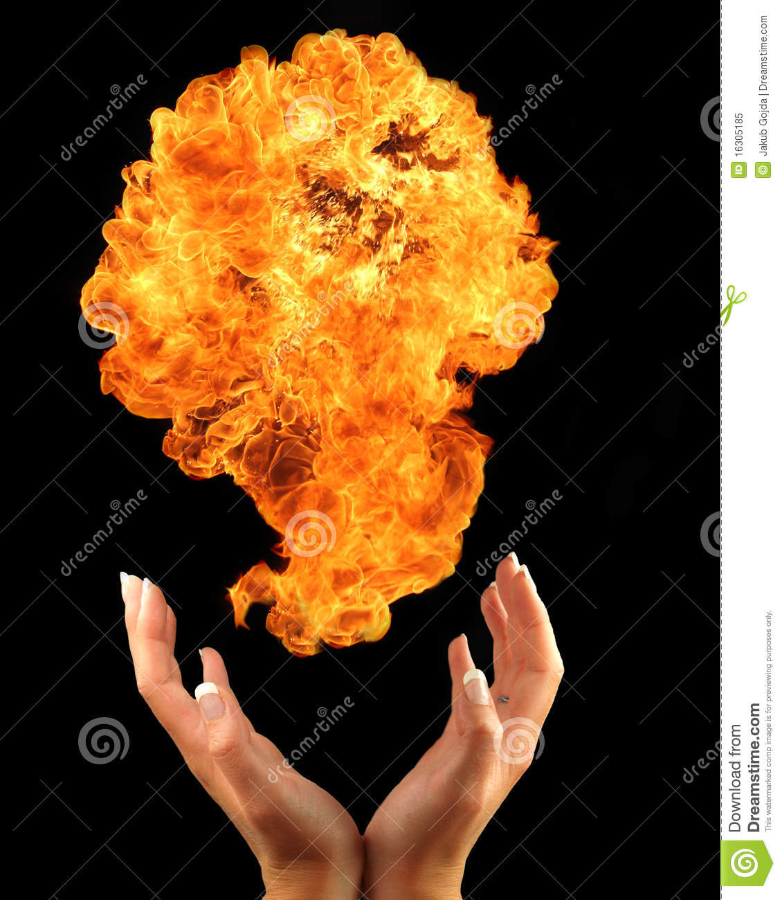 FIre hands stock image. Image of campfire, energy, hand - 16305185 for Girl With Fire In Hands  545xkb