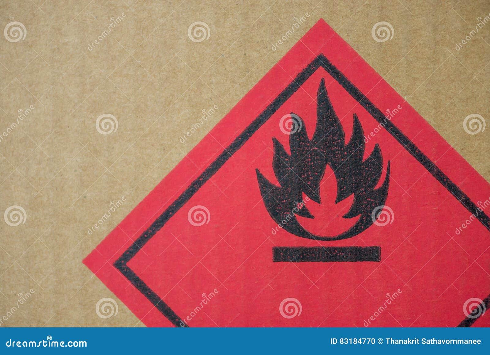 Fire Hazard Symbol On A Cardboard Box Stock Photo Image Of Injury
