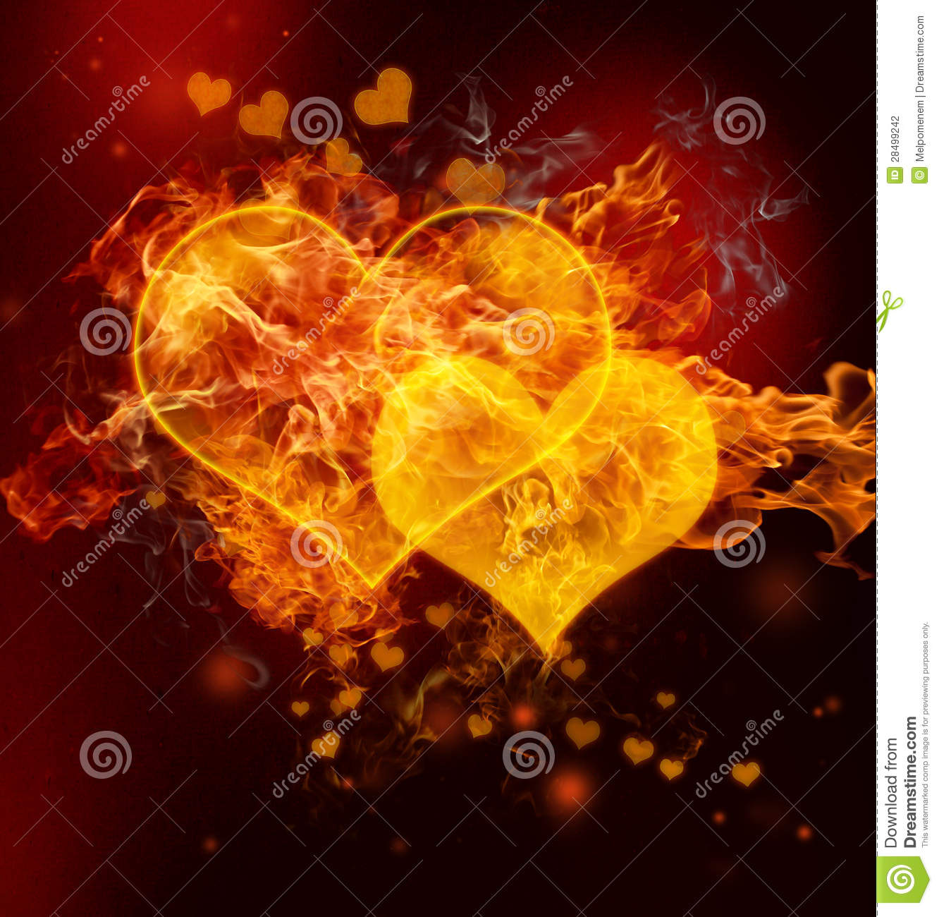 Fire Hearts Stock Photography Image 28499242