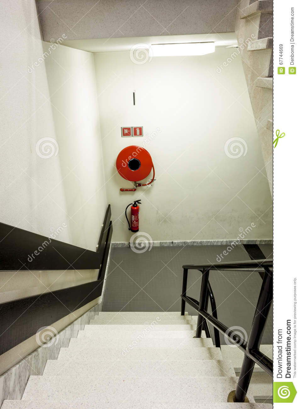 Fire Hose Reel Stock Image Image Of Security Nobody
