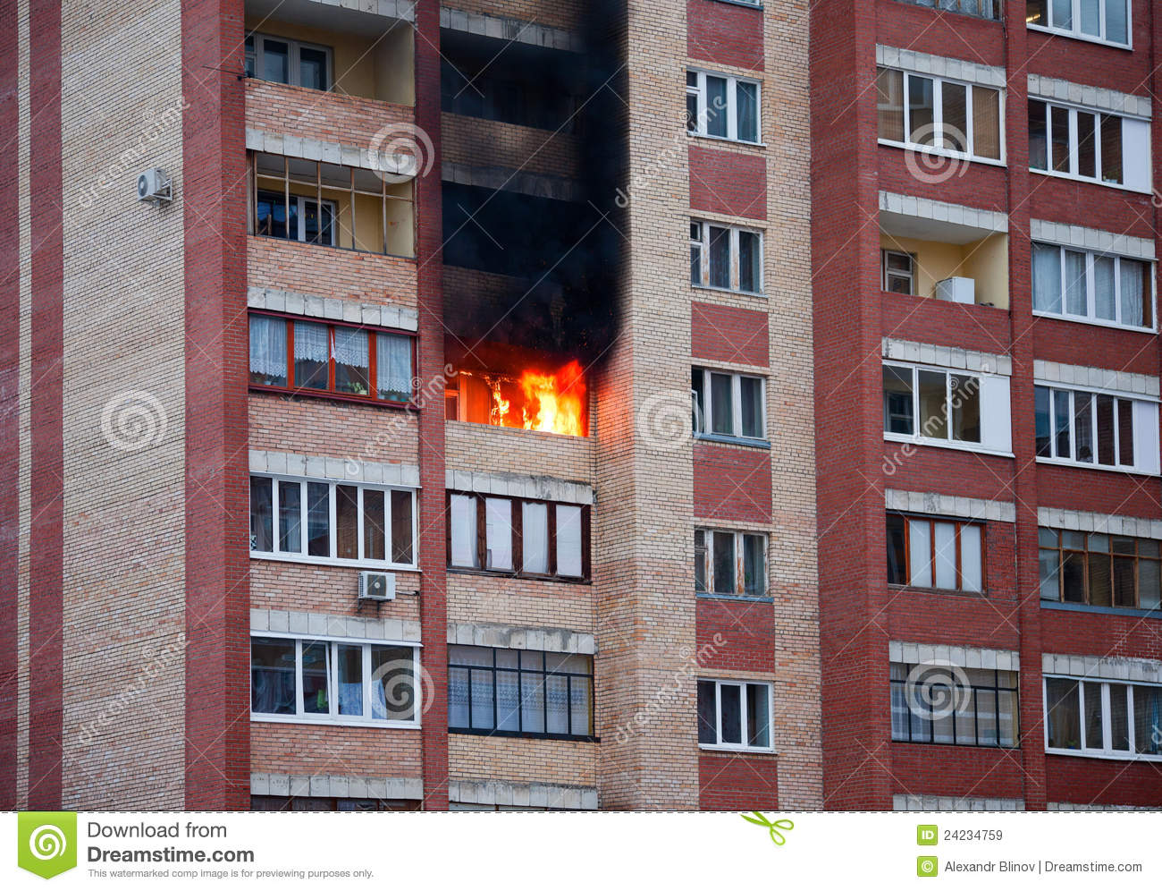 Fire in the house royalty free stock images - image: 2423475.