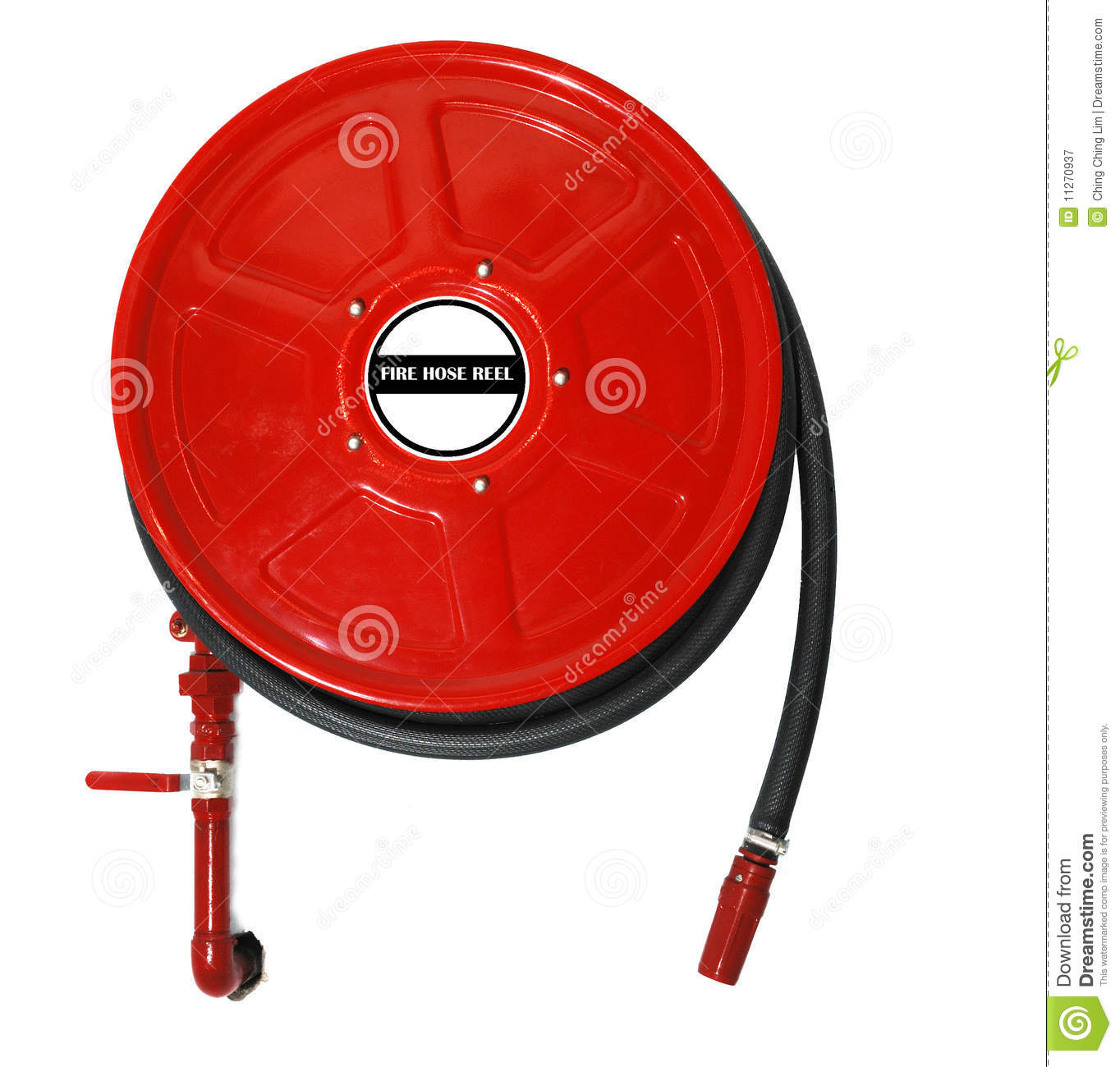 fire house reel stock image image of gear wall saver