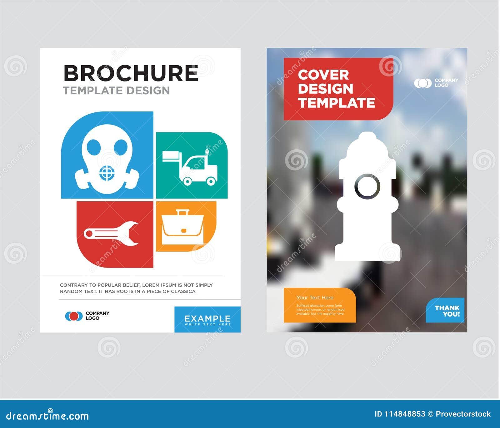 fire hydrant brochure flyer design template stock illustration