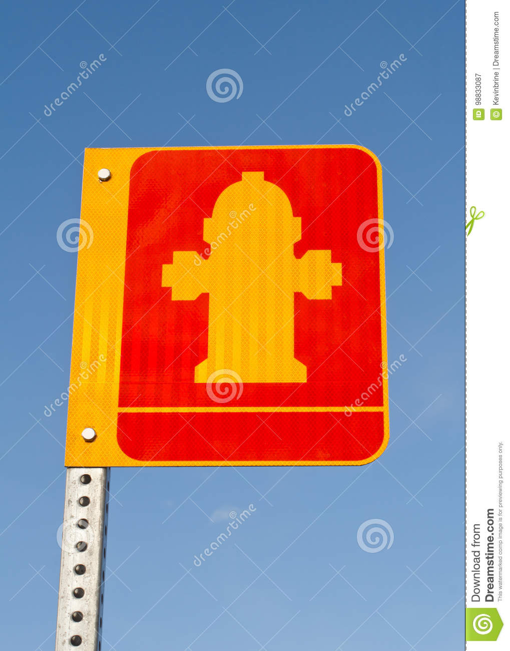 Fire Hydrant Sign Stock Image Image Of Background Inflame 98833087