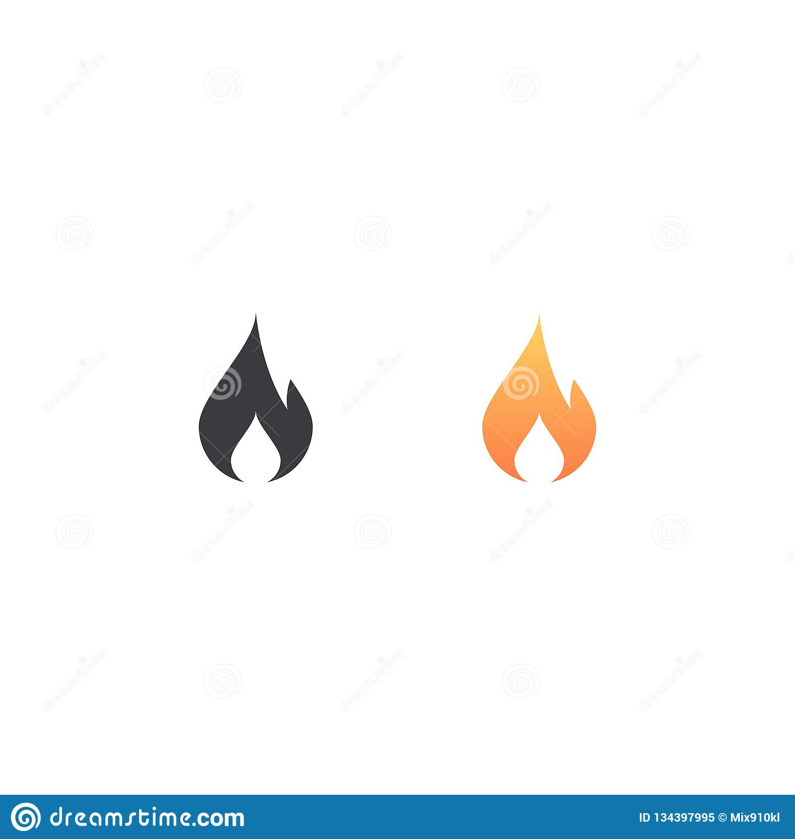 Fire Icon  Fire Shape  Vector Icon  Flame Symbol  Burn Sign  Trend