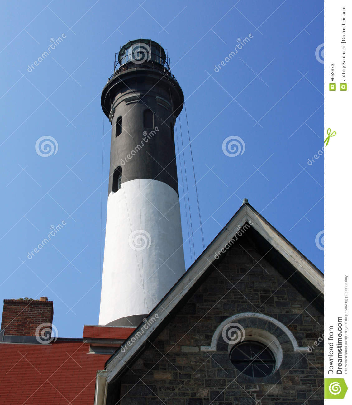 Fire Island Lighthouse Front Stock Photos Image 8653973