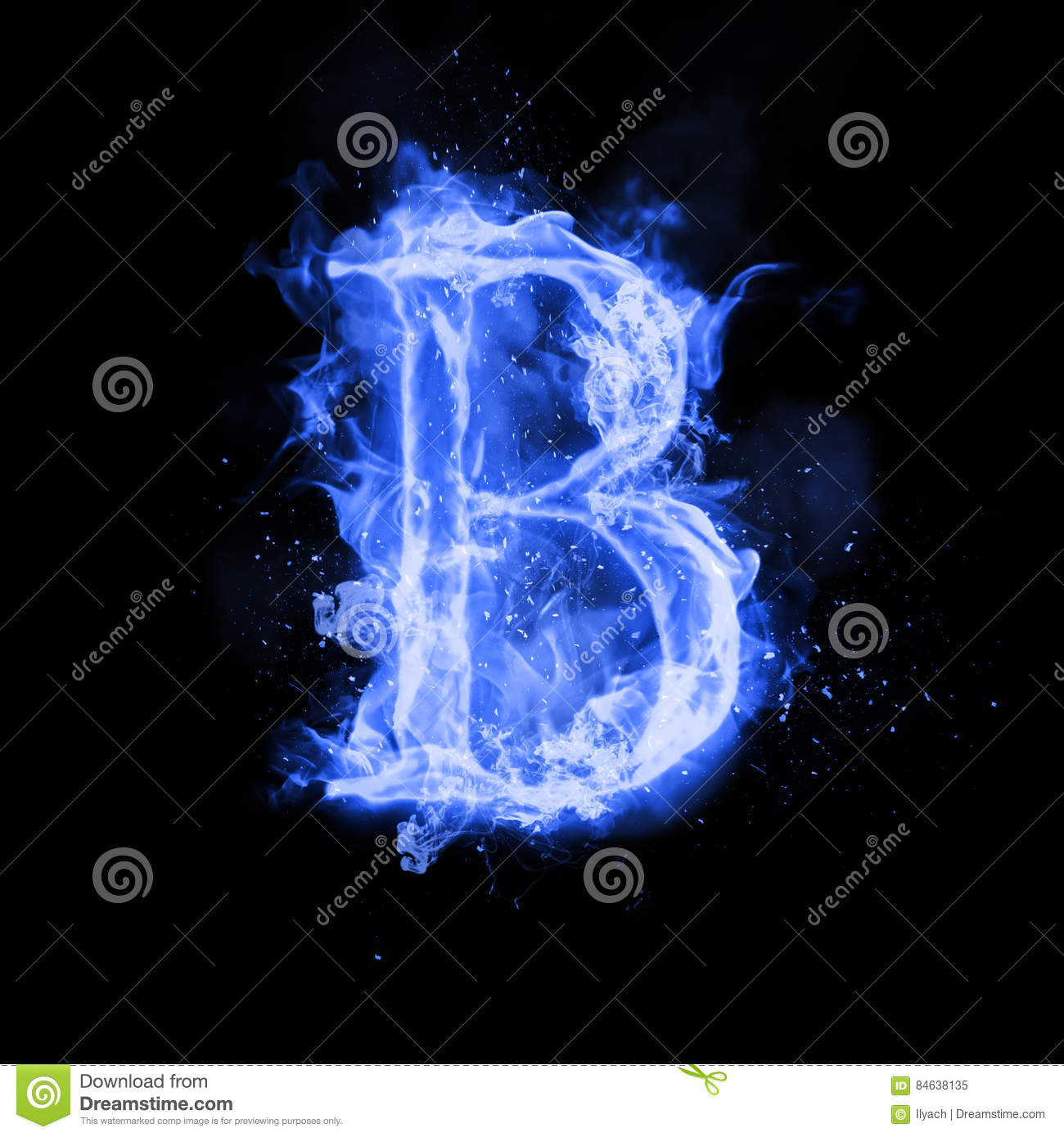 Fire letter b of burning flame light stock illustration fire letter b of burning flame light thecheapjerseys Choice Image