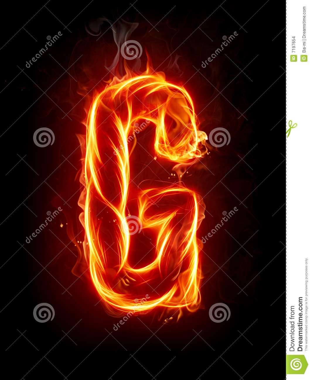 Fire Letter G Stock Illustration Illustration Of Burn 7197654
