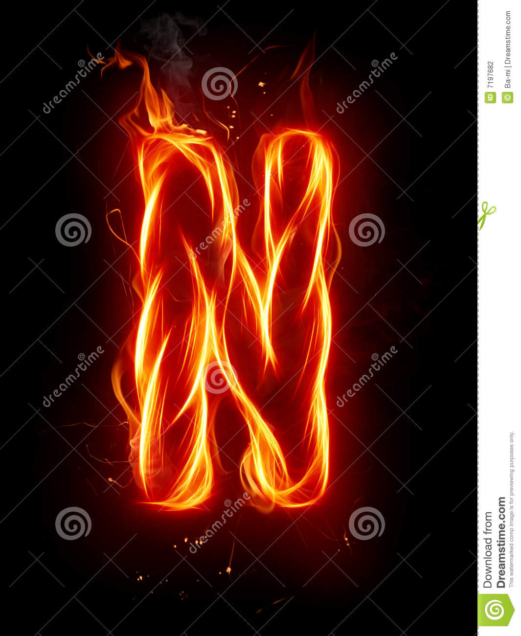 Fire Letter N Stock Illustration Illustration Of Conceptual