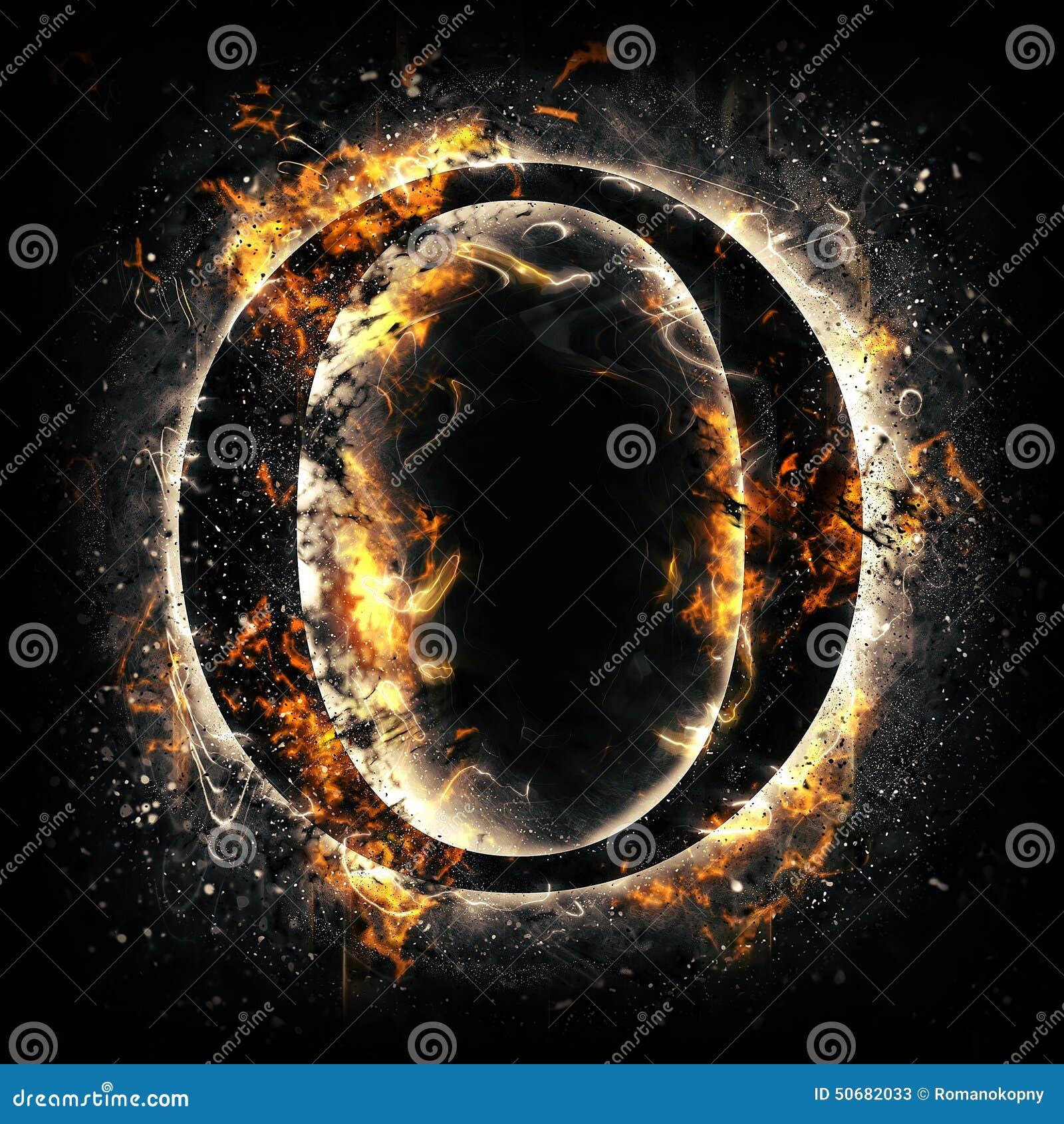 Fire letter O stock illustration. Image of font, ignite ...