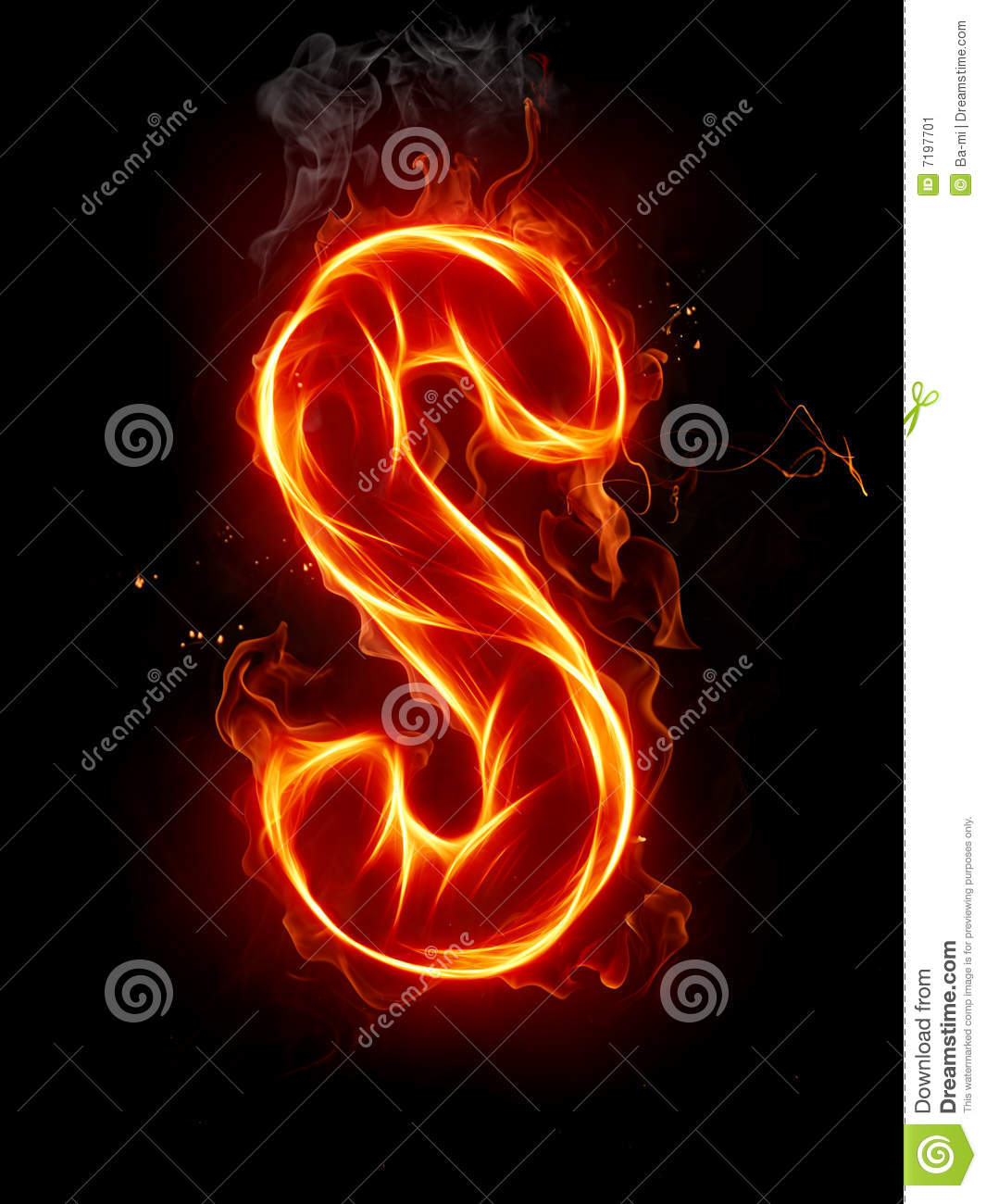 c4e42d17d07212 Letters And Symbols In Fire - Letter S. Stock Photo, Picture And ..