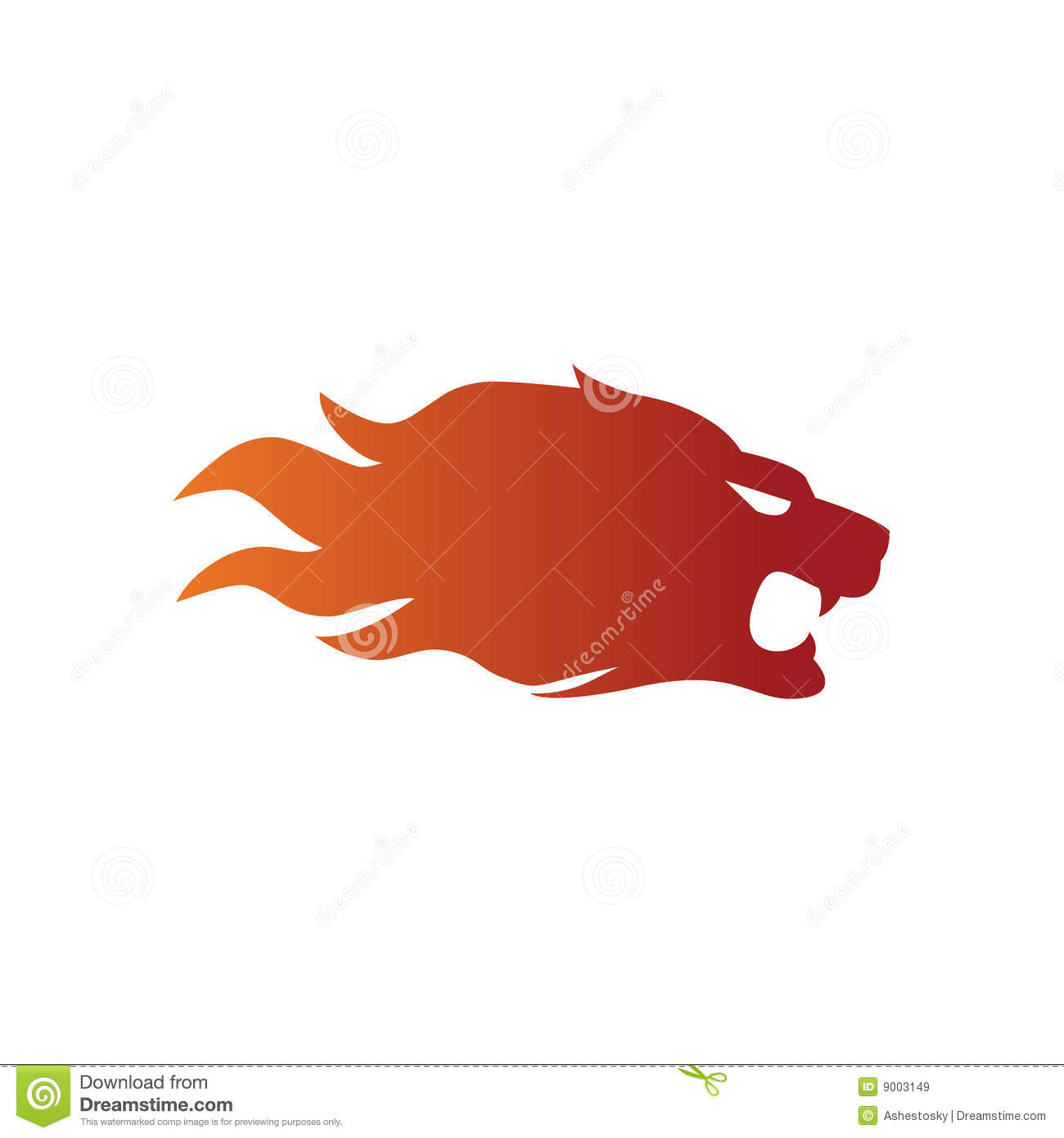 Fire Lion Sport Style Design Royalty Free Stock Images ...