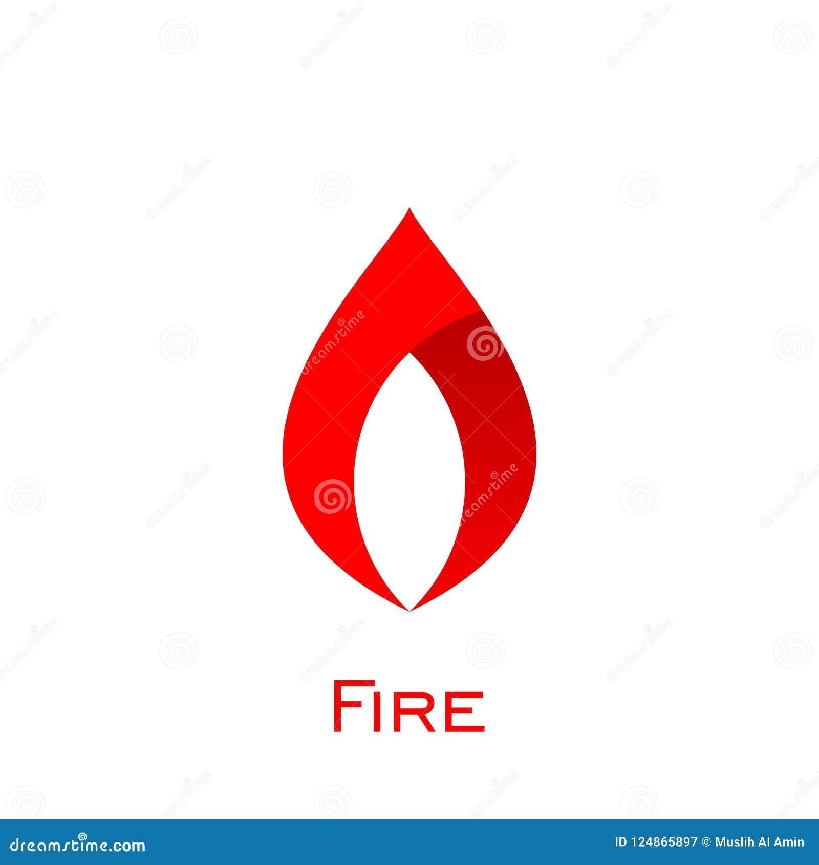 Fire Logo Design, Simple Flame Logo, Vector Icons  Stock Vector