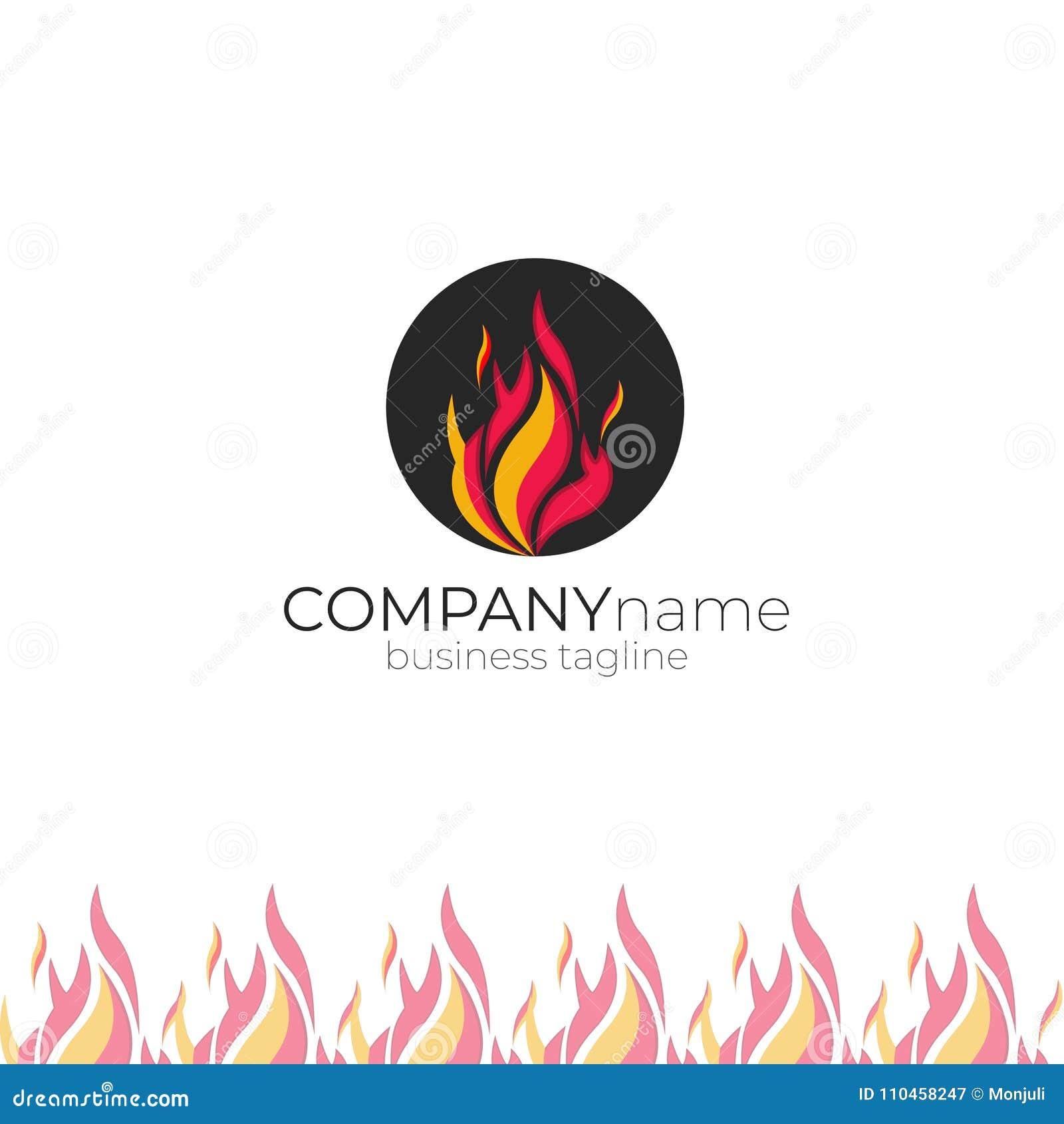 fire logo fireman chimney sweep logo stock image illustration