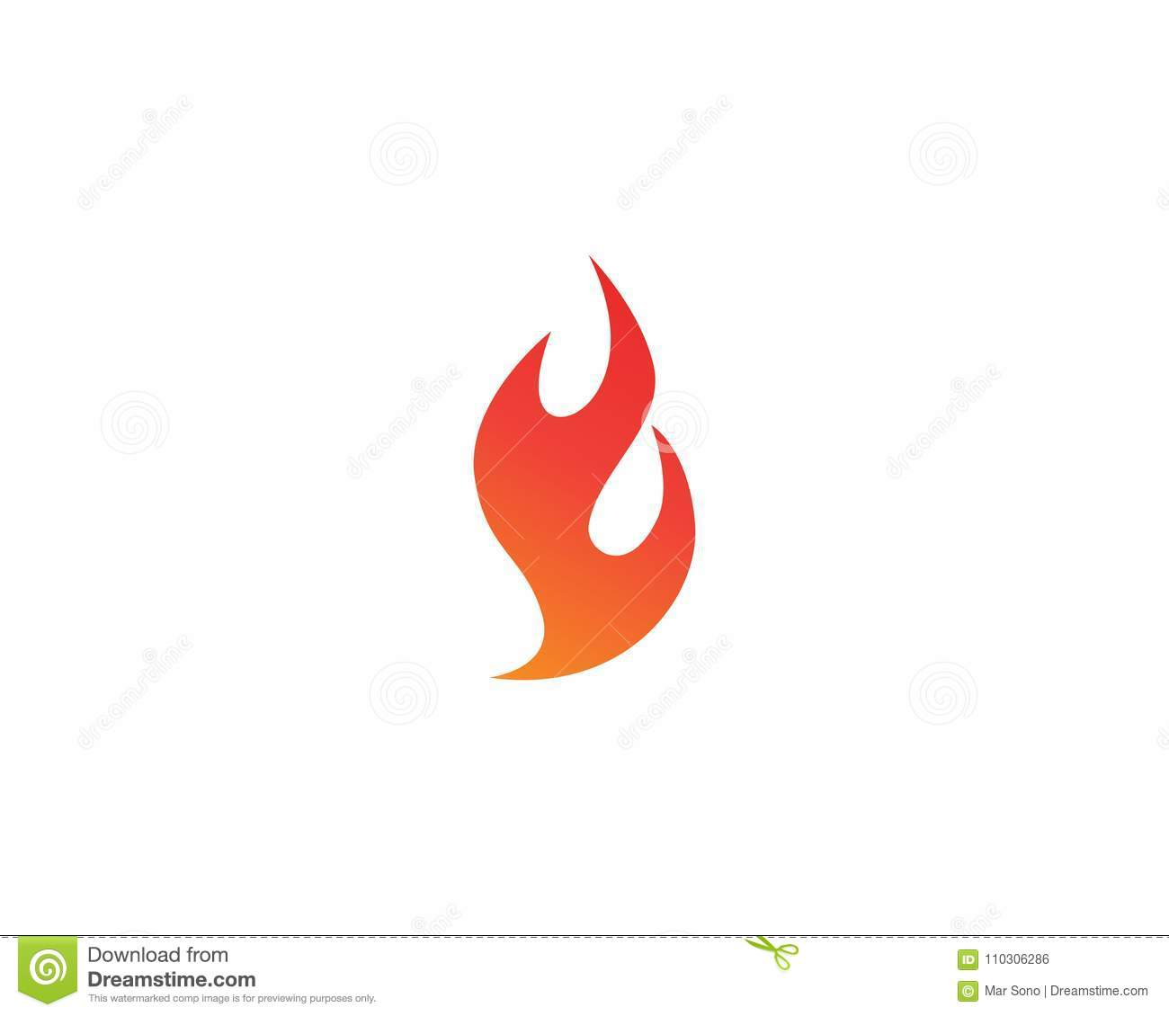 Fire Logo And Symbols Template Icons App Stock Vector - Illustration