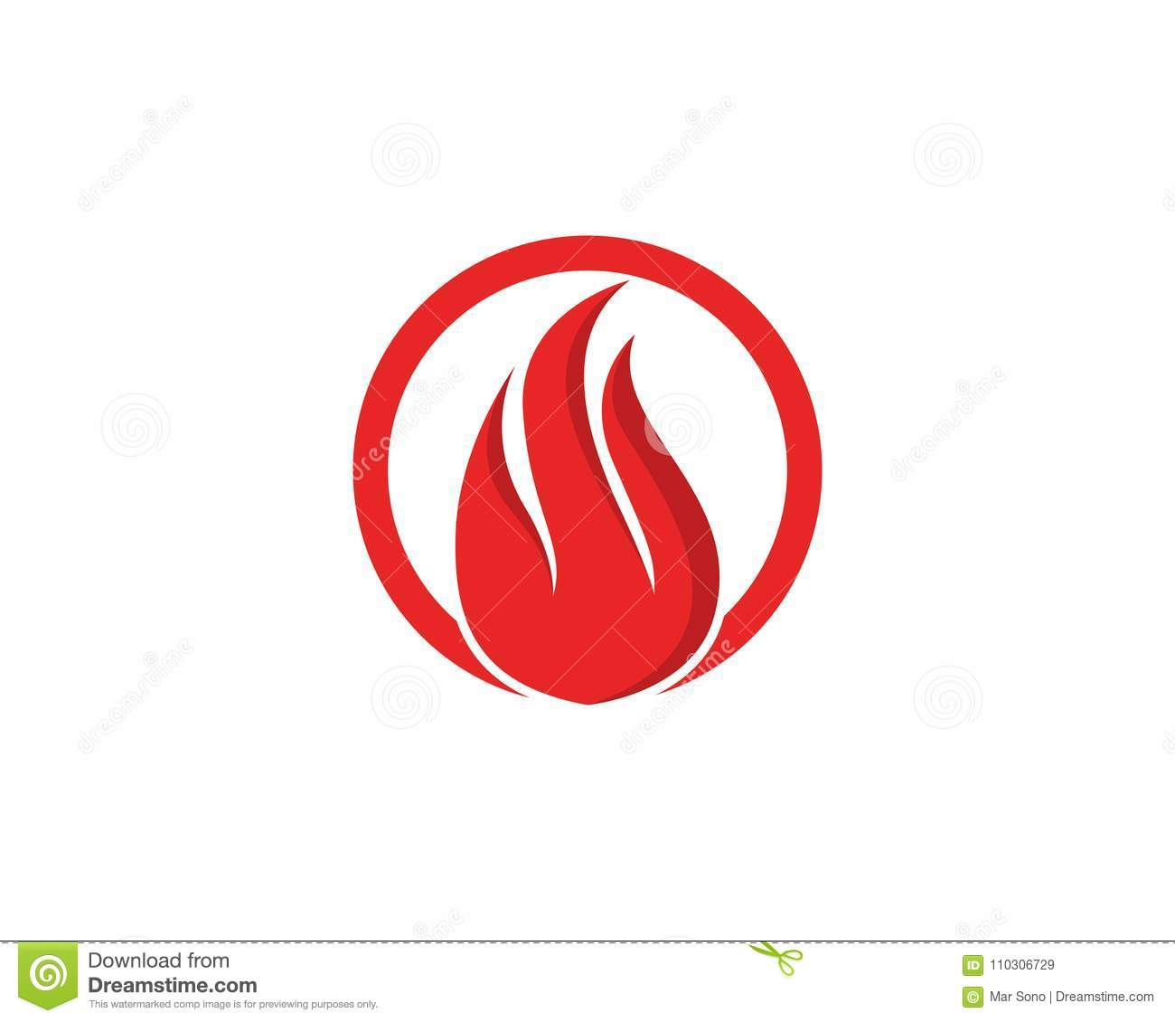 fire logo and symbols template icons app stock vector illustration