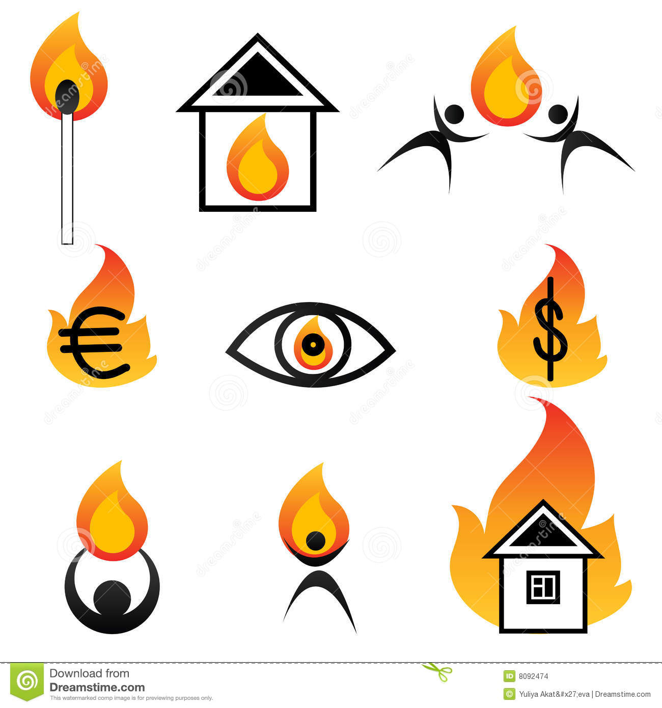 Fire Logos Stock Images - Image: 8092474