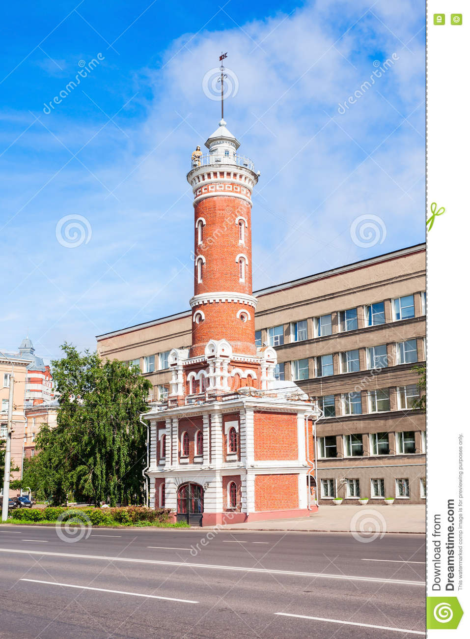 Lookout Tower Plans Fire Lookout Tower Omsk Stock Photo Image 80403736