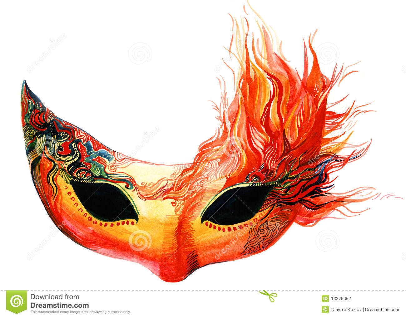 Fire Mask Stock Photography - Image: 13879052