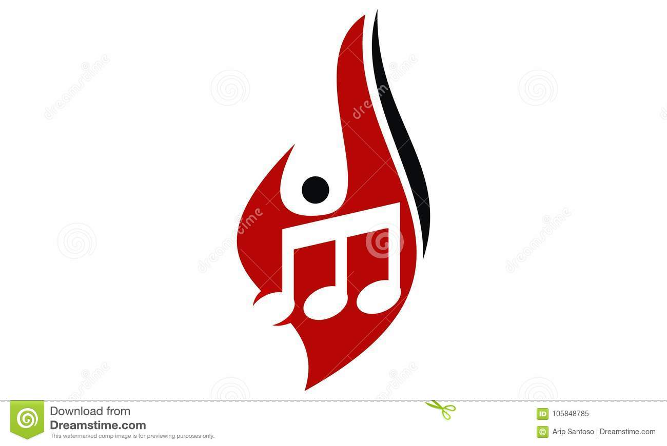 Fire Note Music stock vector  Illustration of note, event - 105848785