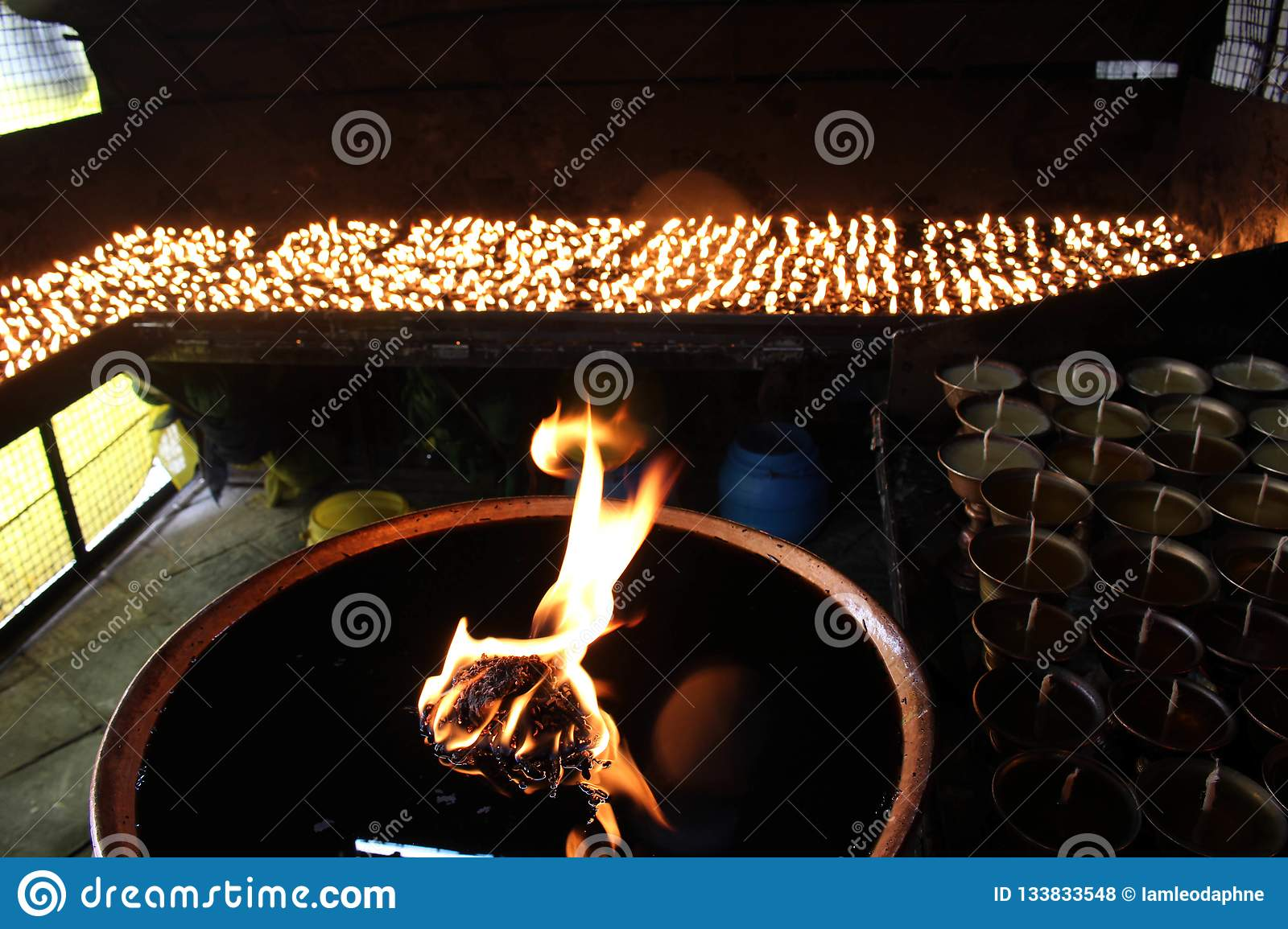 Brilliant The Fire At One Room Around Boudhanath Stupa Complex In Download Free Architecture Designs Scobabritishbridgeorg