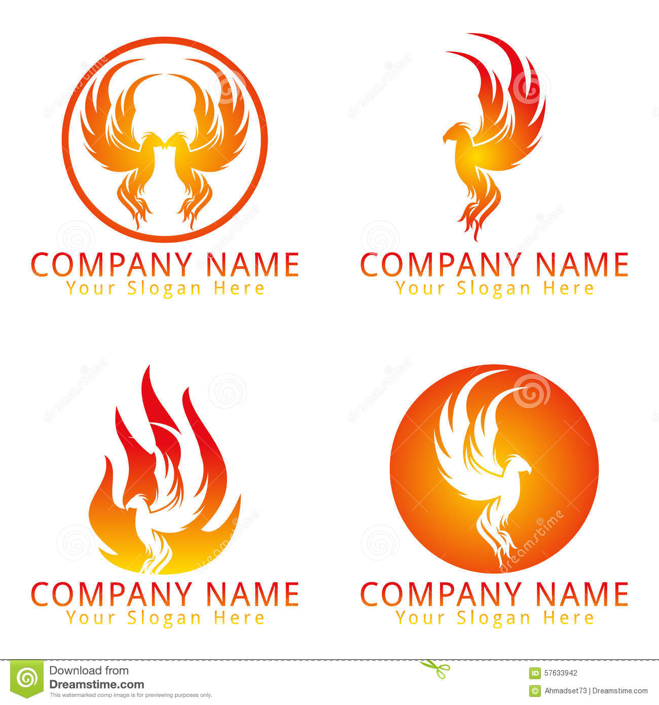 Stock Photography Fire Phoenix Concept Logo Image 57633942