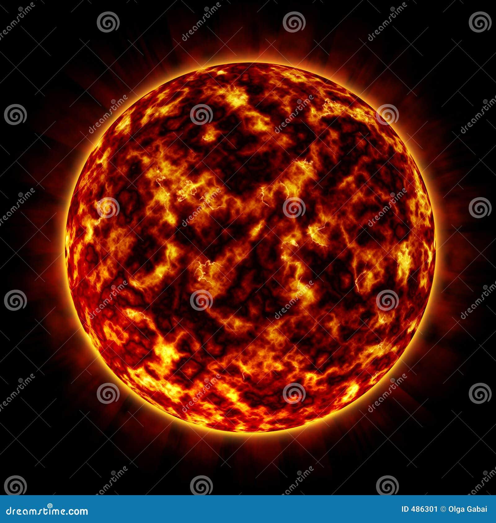 Orange glow planet royalty free stock photography for Plante orange