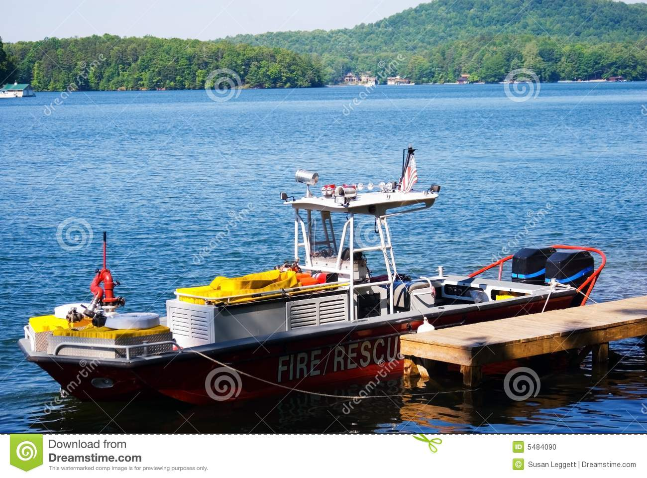Fire and Rescue Boat at Marina