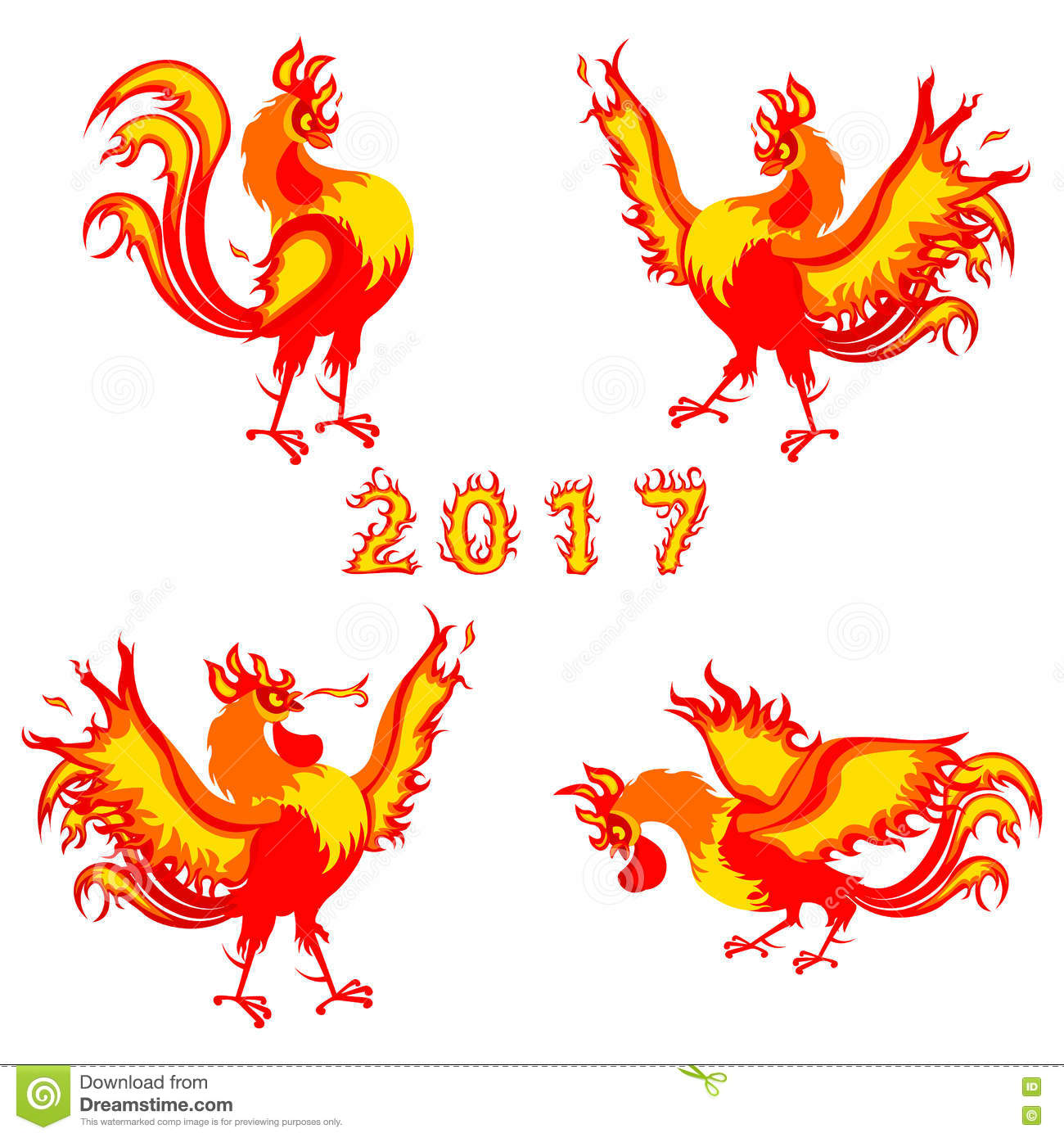 Fire rooster symbol of 2017 on the chinese calendar vector stock fire rooster symbol of 2017 on the chinese calendar vector buycottarizona