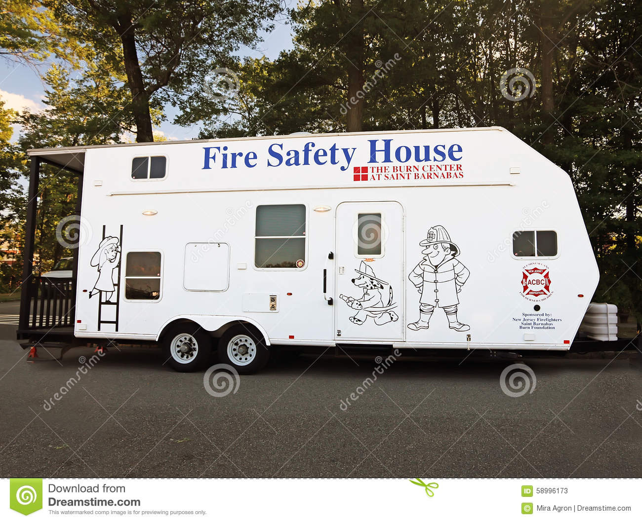 Fire safety house trailer editorial stock photo image for Fire safety house