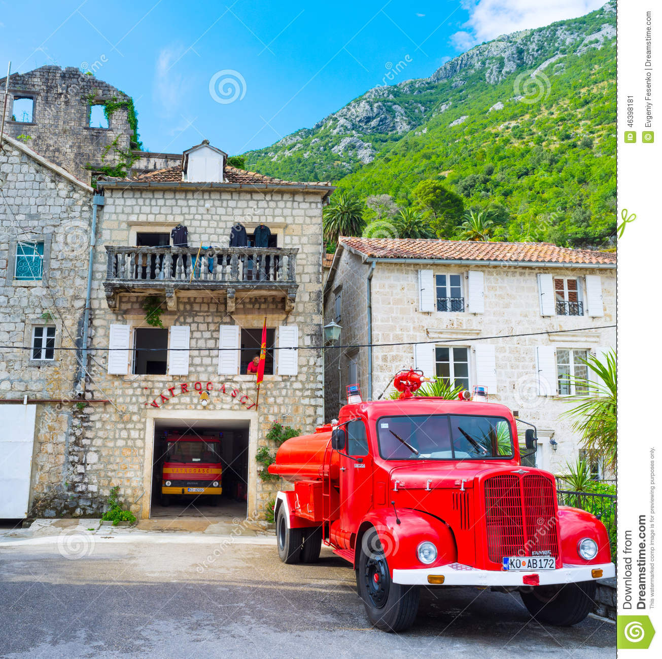 Vintage Retro Fire Station Building Editorial Image