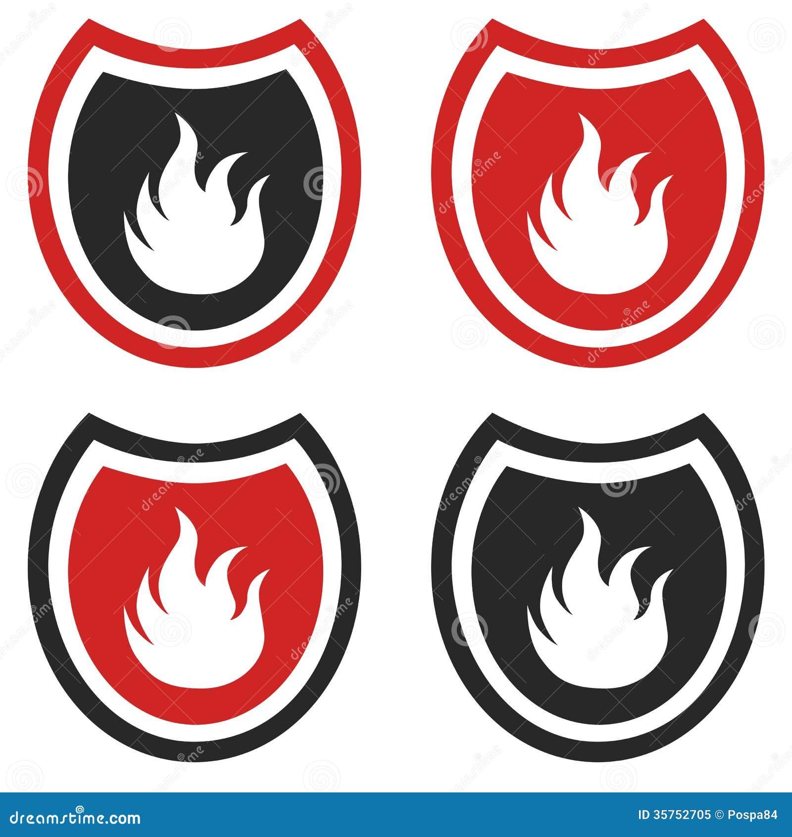 Fire Shield Stock Illustration Illustration Of Plate 35752705
