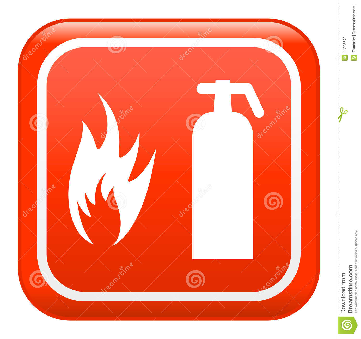 Fire sign , vector
