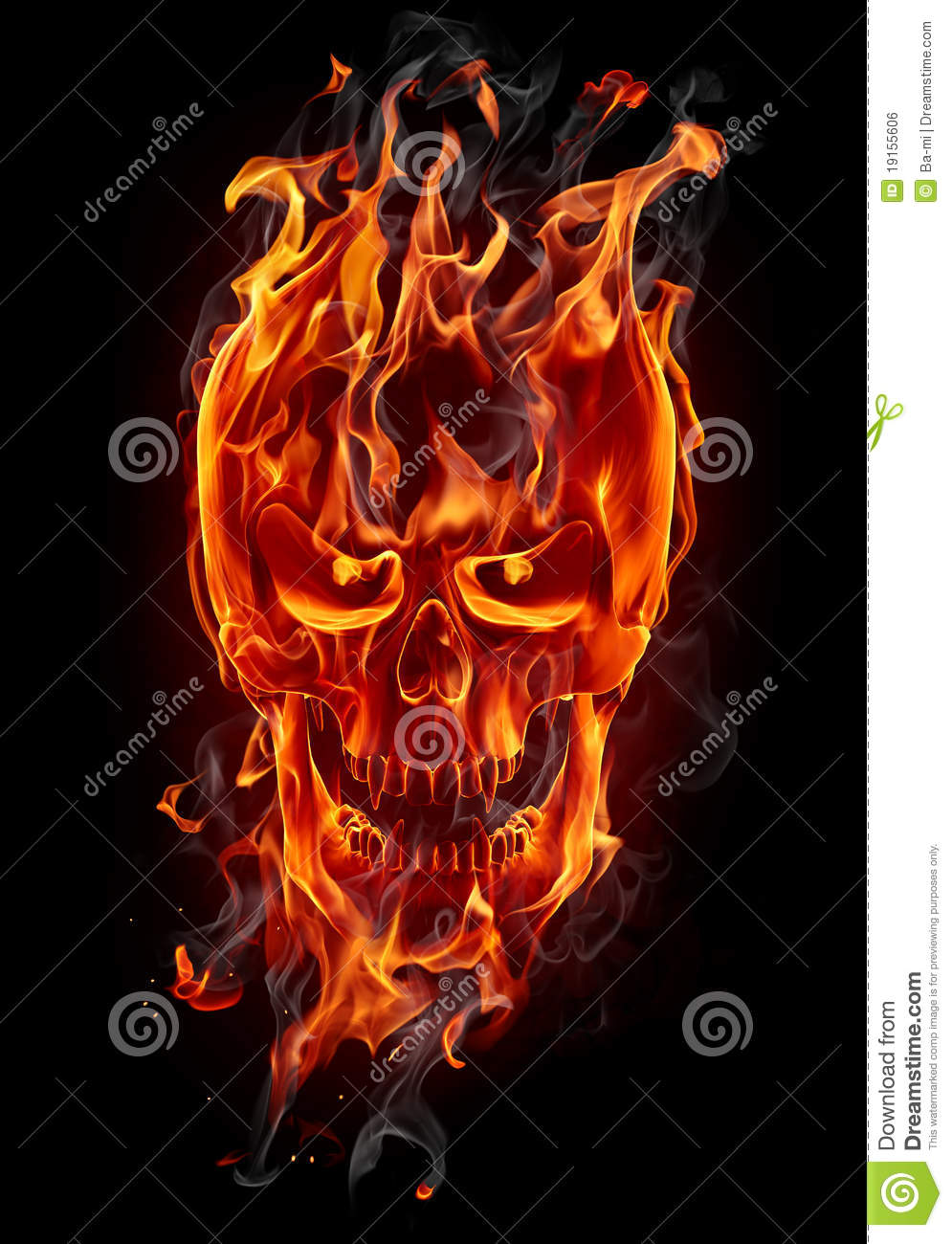 Fire Skull Royalty Free Stock Image - Image: 19155606