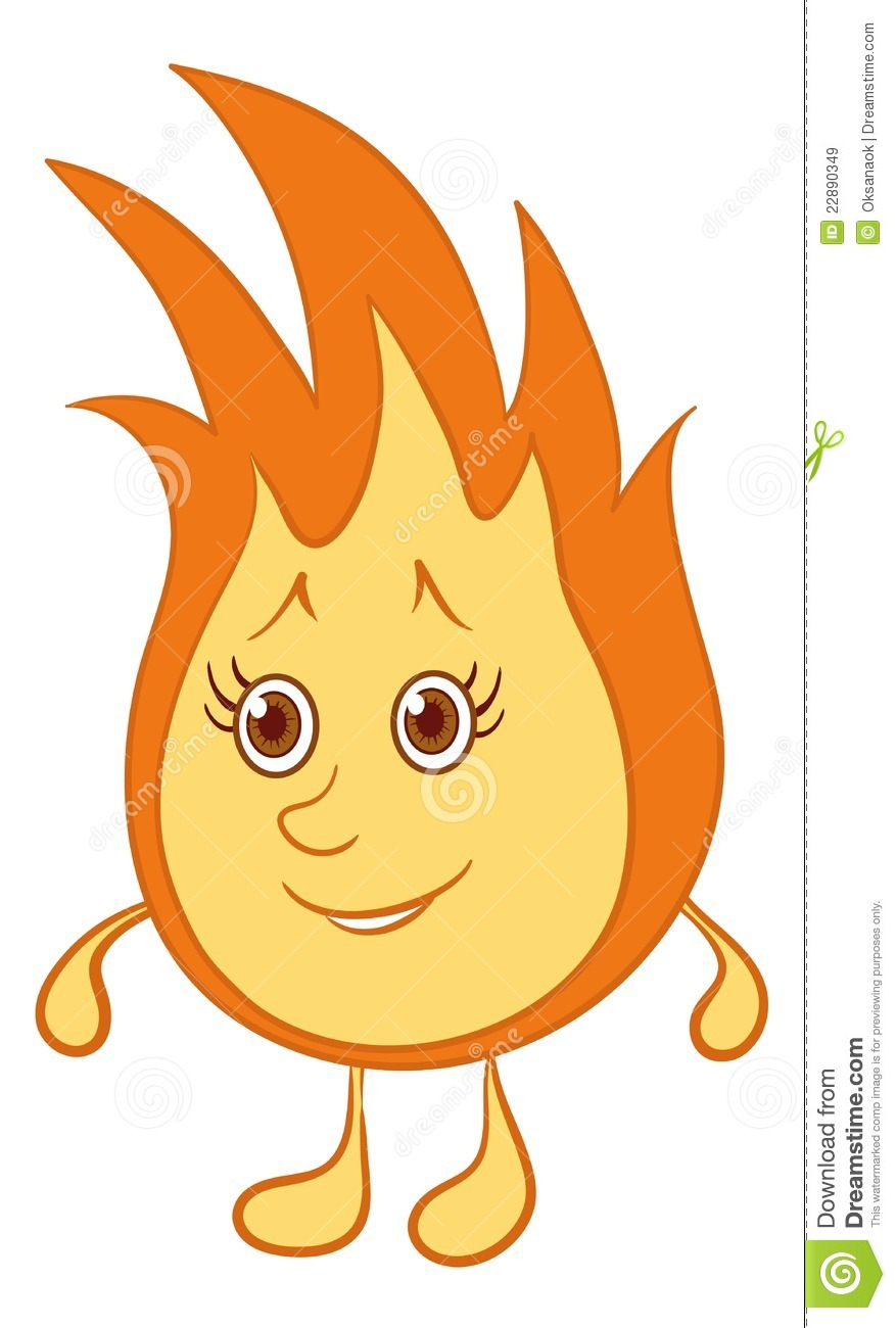Fire smiley stock vect...