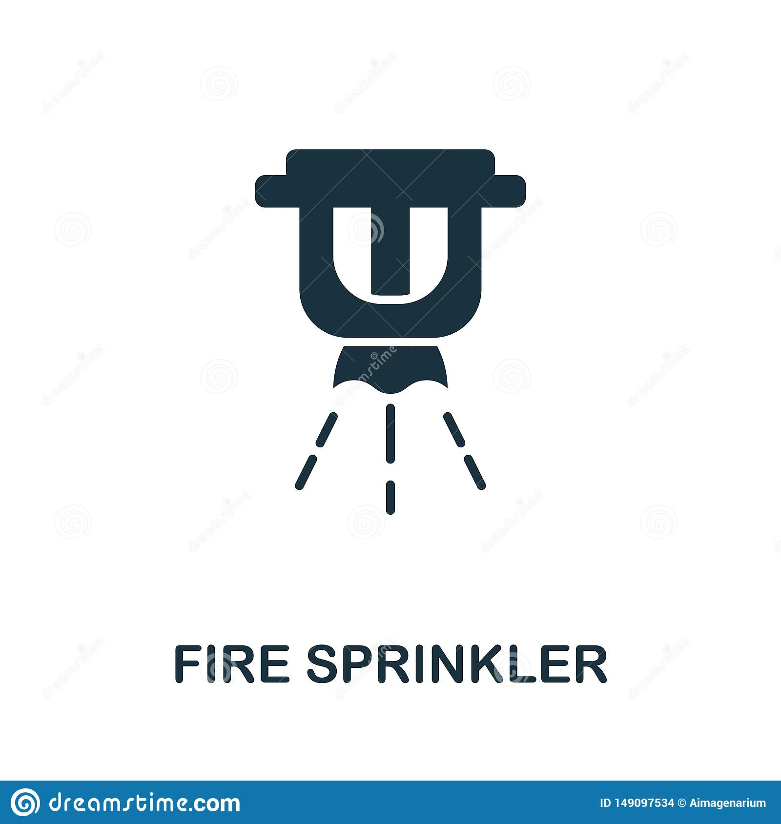 Fire Sprinkler Icon Creative Element Design From Fire Safety Icons Collection Pixel Perfect Fire Sprinkler Icon For Stock Vector Illustration Of Isolated Equipment 149097534