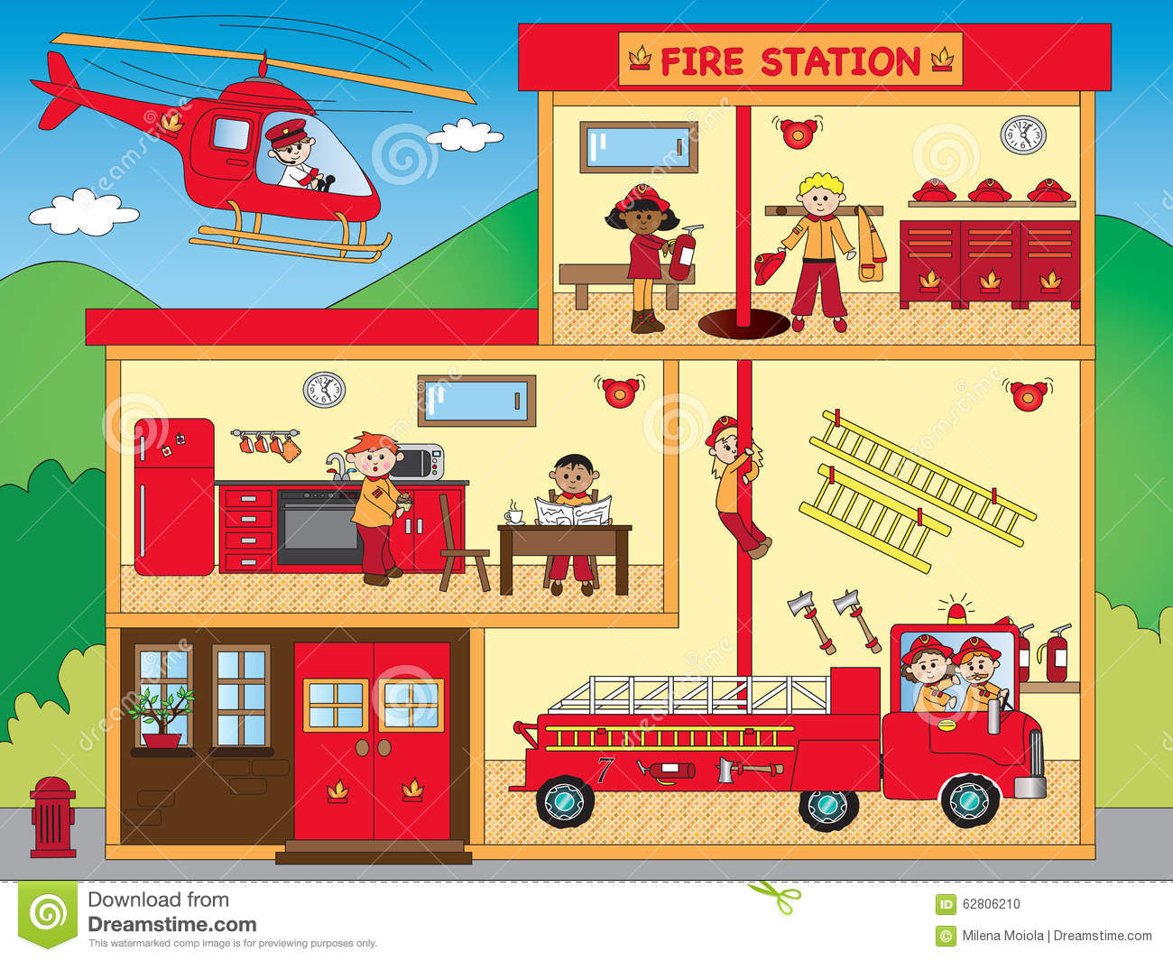 clip art of fire station - photo #15