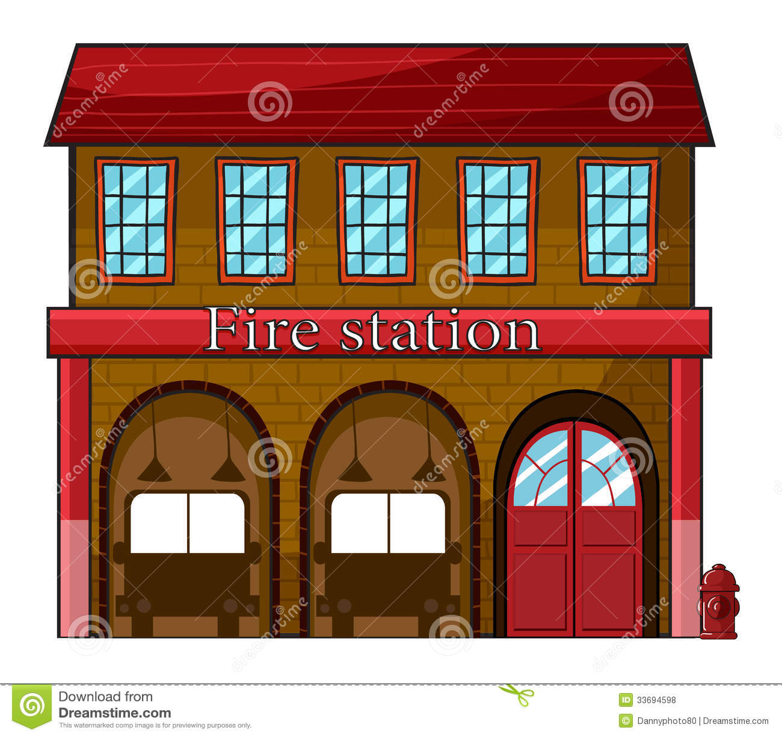 a fire station stock illustration illustration of firehouse dog clipart Fire Station Clip Art