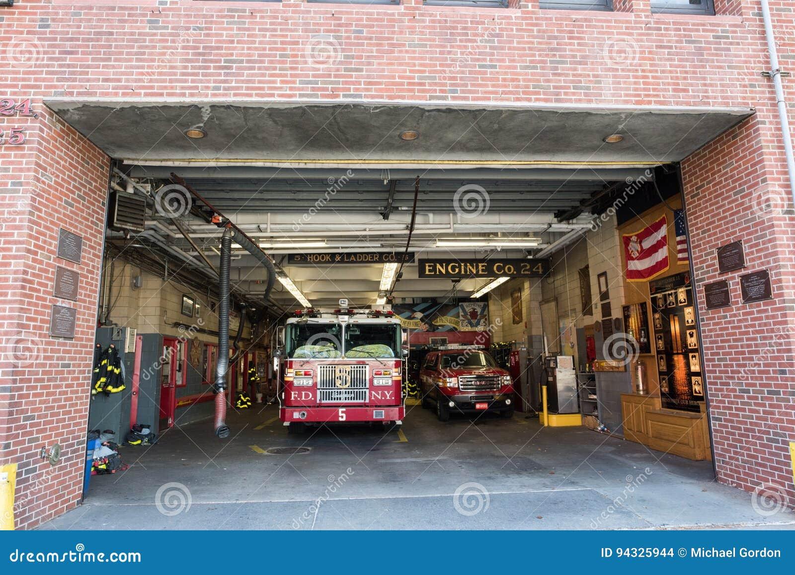 Fire Station in Manhattan, NYC