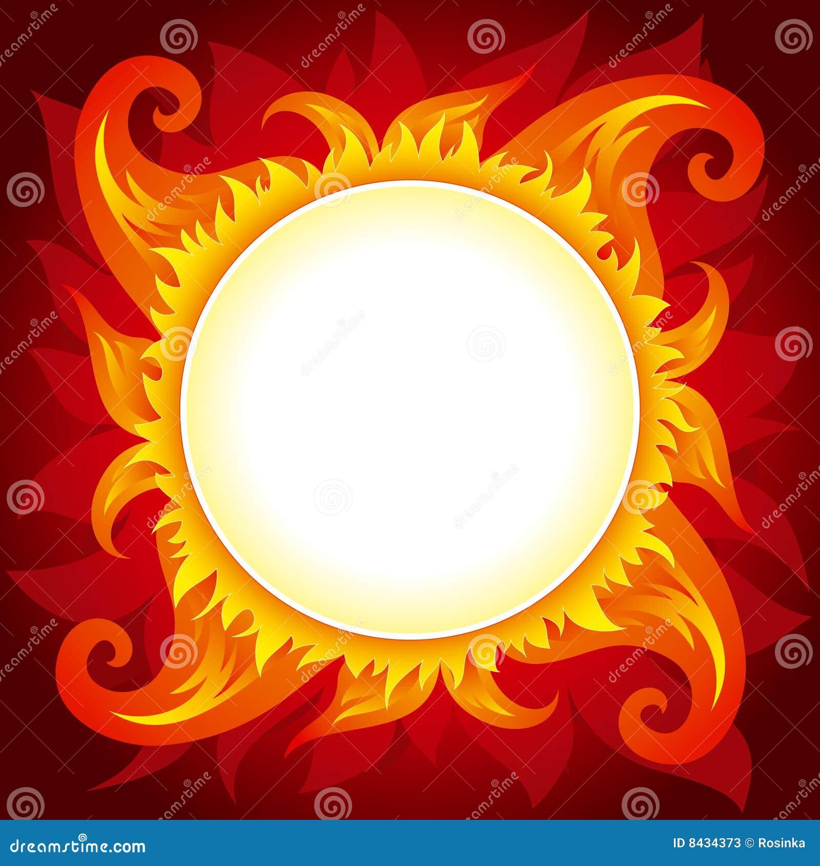fire or sun vector background stock photos