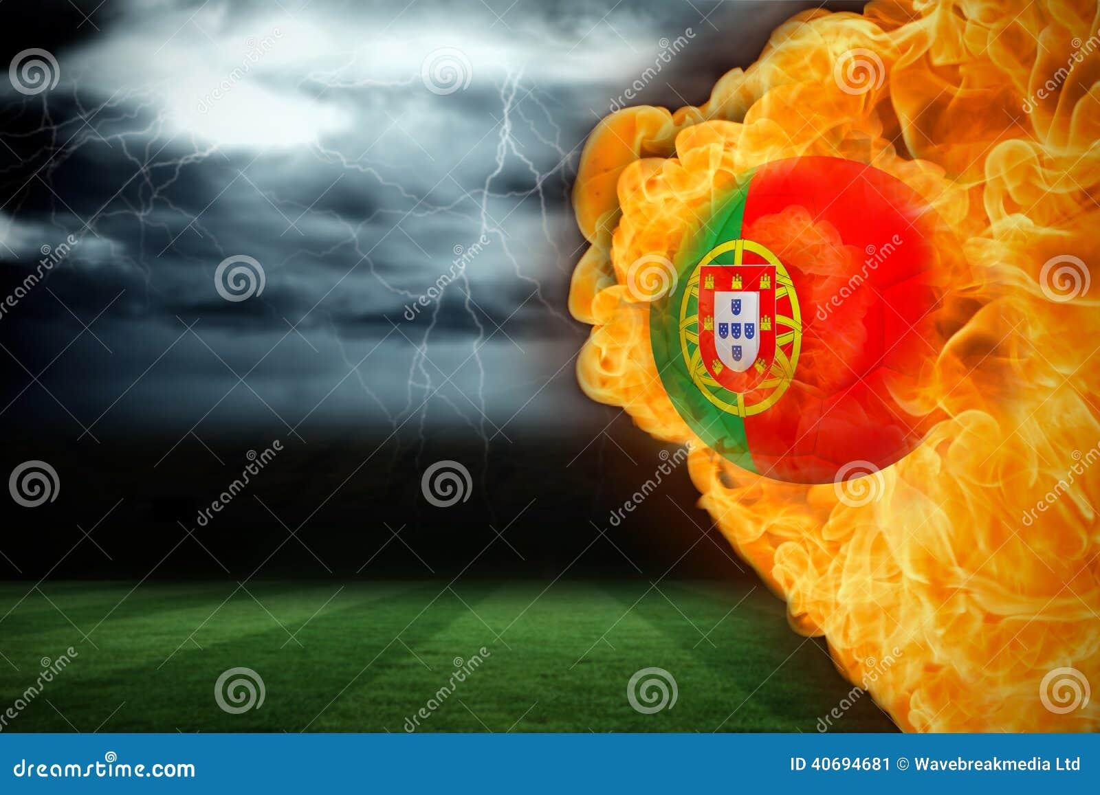 Fire Surrounding Portugal Flag Football Stock Illustration Illustration Of Football Activity 40694681