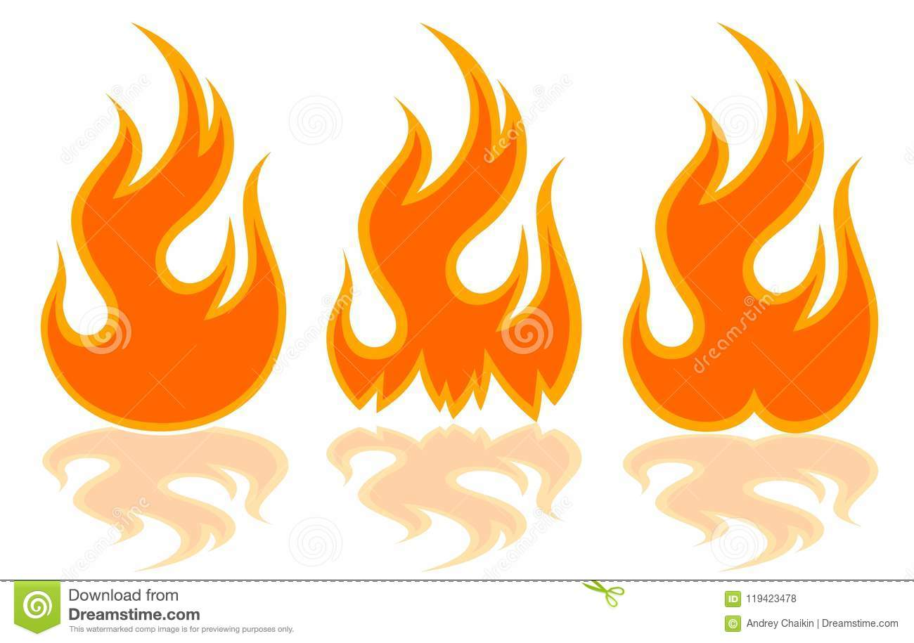 The Fire Symbol Stock Vector Illustration Of Symbols 119423478