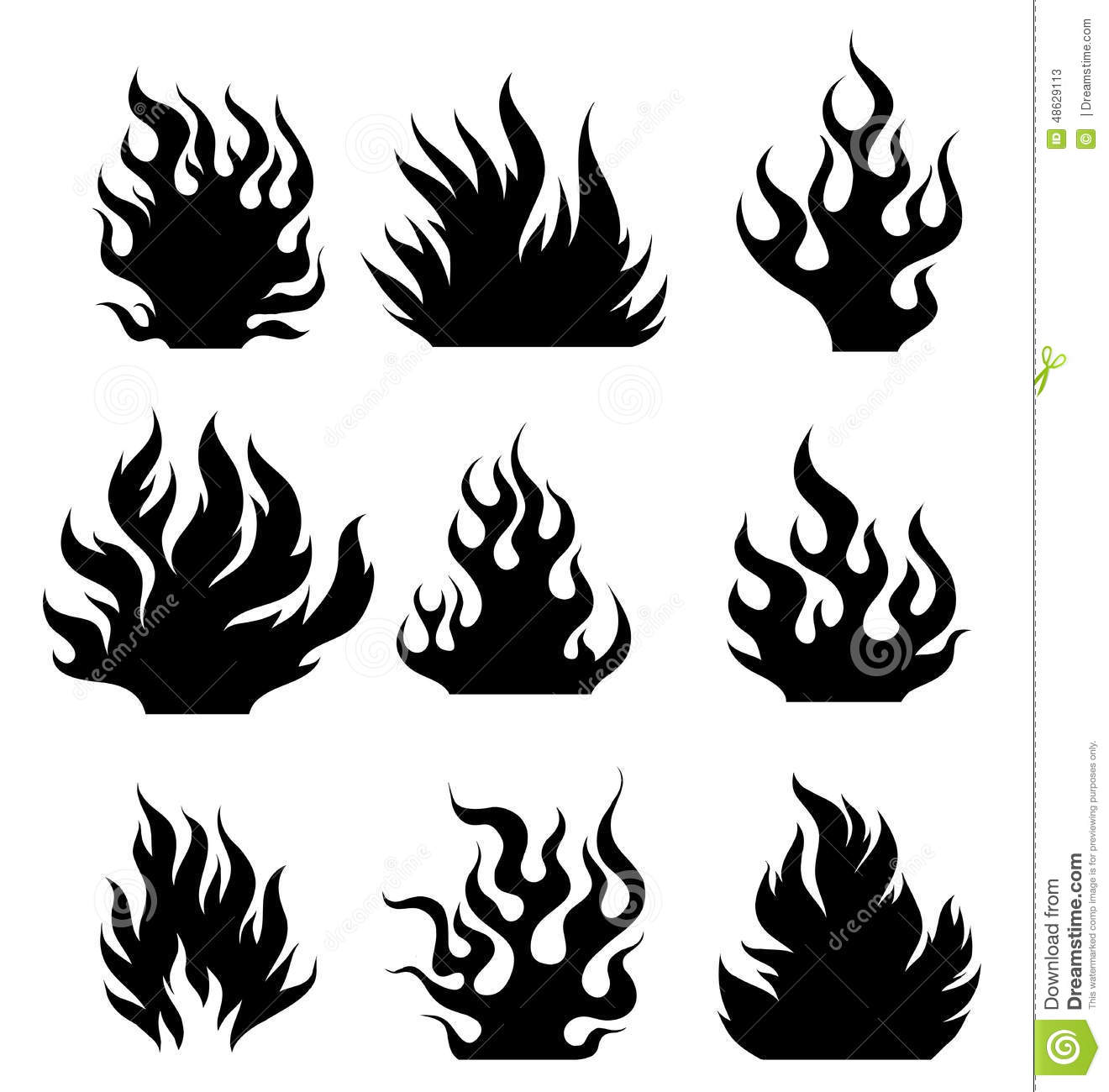 Fire Tattoo Stock Vector Image 48629113