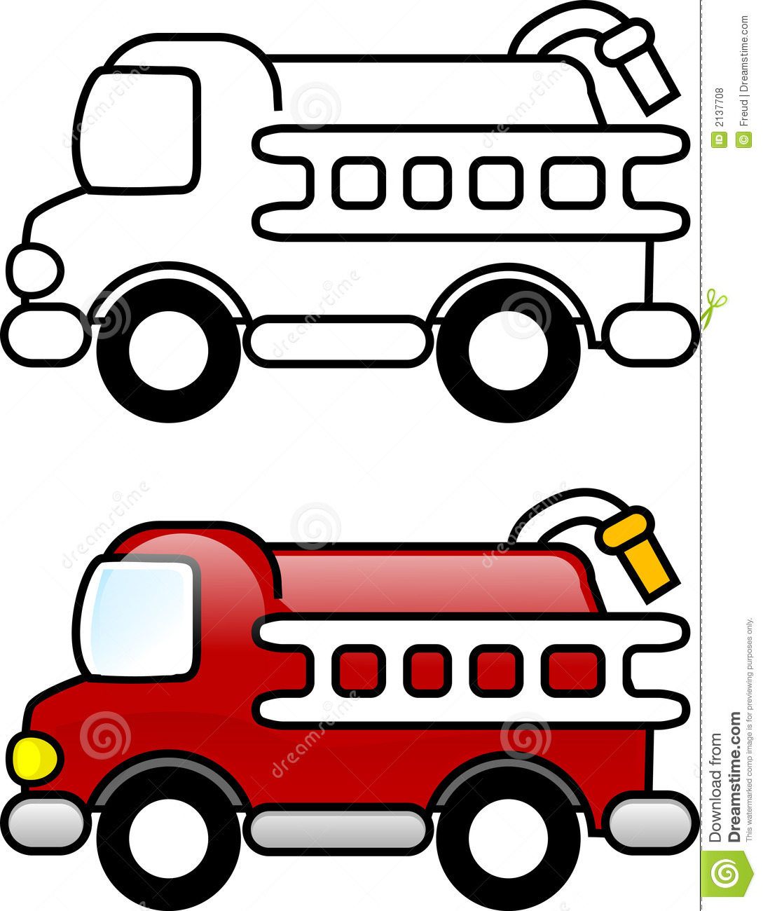 Firetruck coloring pages for kids, printable free | coloing-4kids.com | 1300x1089