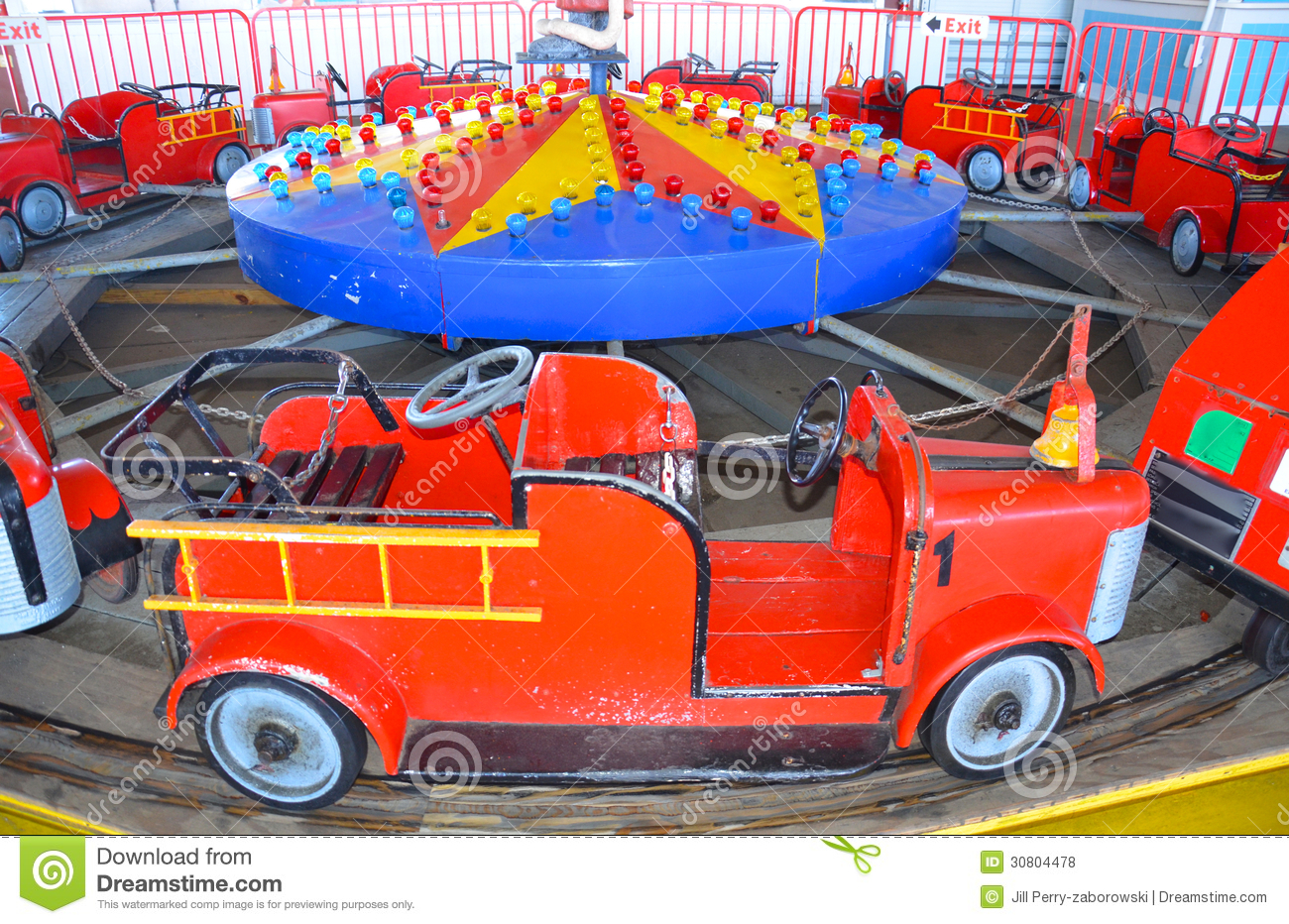 Fire Truck Amusement Ride Royalty Free Stock Photos - Image: 30804478