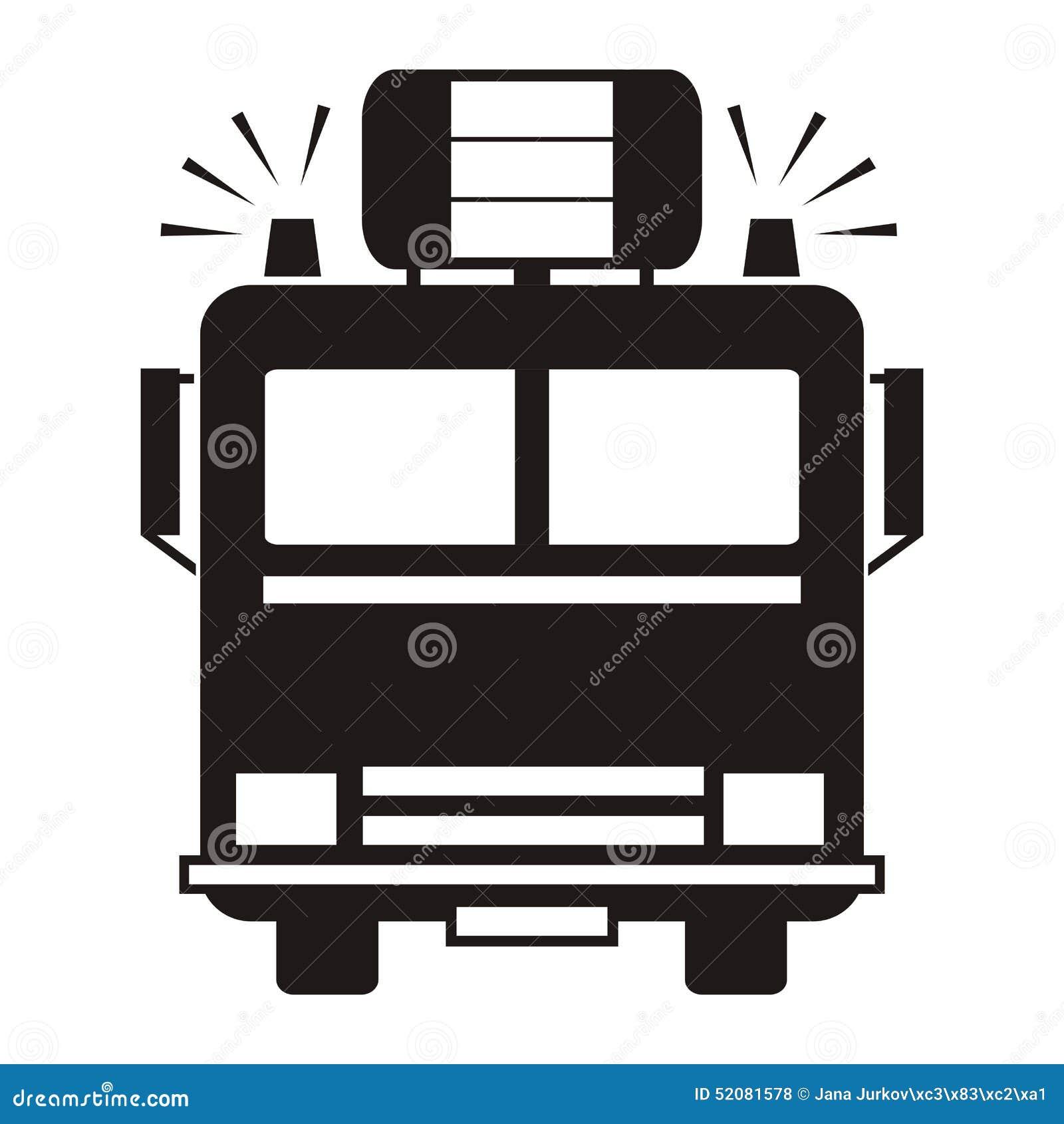 fire truck black silhouette stock vector image 52081578