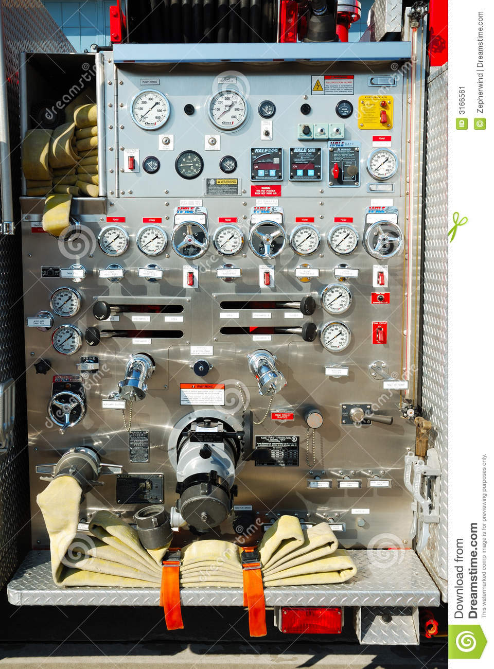 Fire Truck Control Panel Stock Image Image 3166561