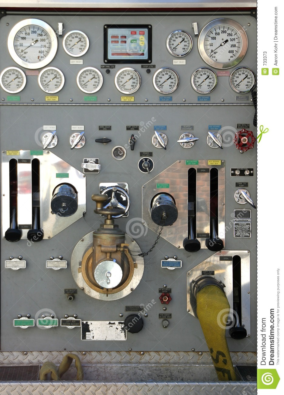 Fire Truck Controls stock image. Image of complexity ...