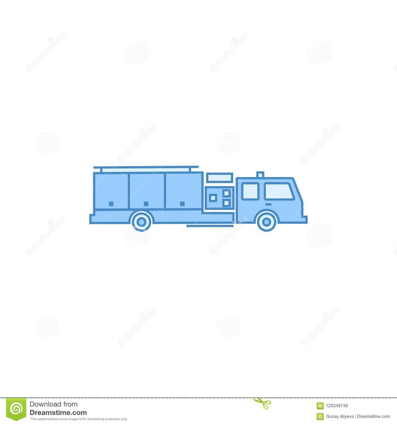 Fire Truck Filled Outline Icon Element Of Transport For Mobile Concept And Web Apps
